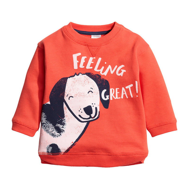 T-shirt thick children's clothing long-sleeved girls
