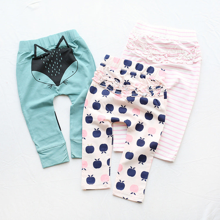 Children's pants clothing cotton cartoon baby 0-3 years old - Kidsalia