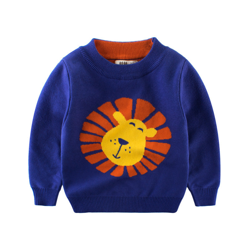 Boy's sweater with print cartoon