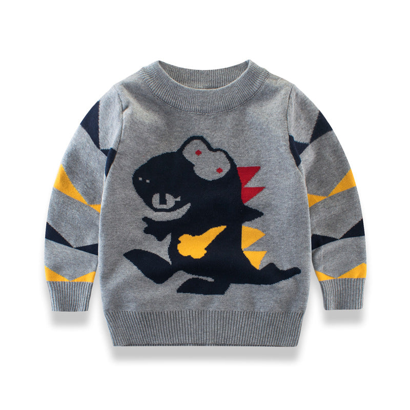 Children's sweater with dinosaur print
