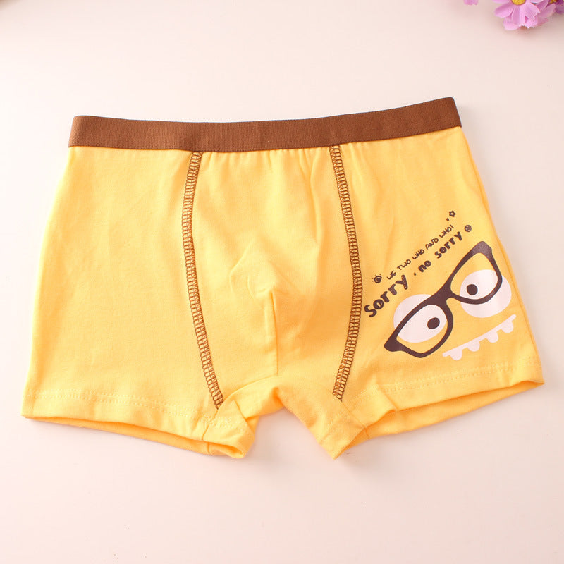 Children's underwear with print cartoon