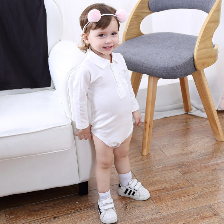 Baby long-sleeved romper cotton shirt