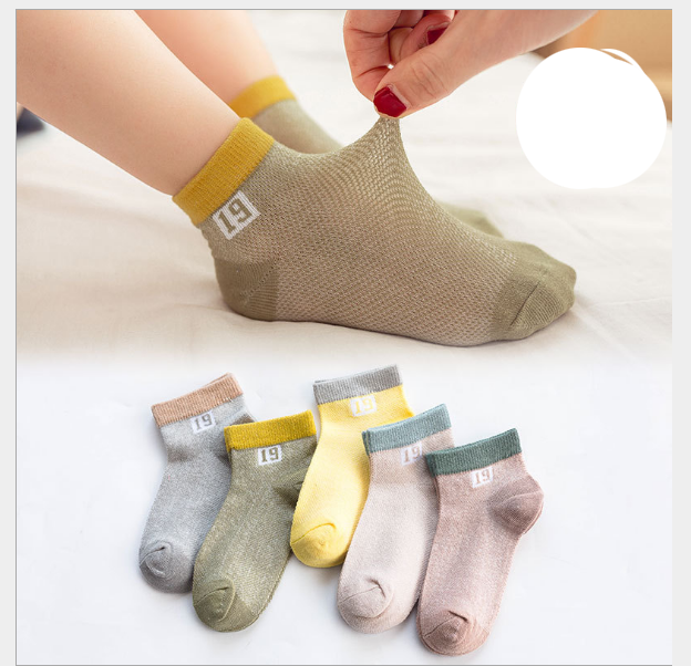 Children's socks cotton mesh