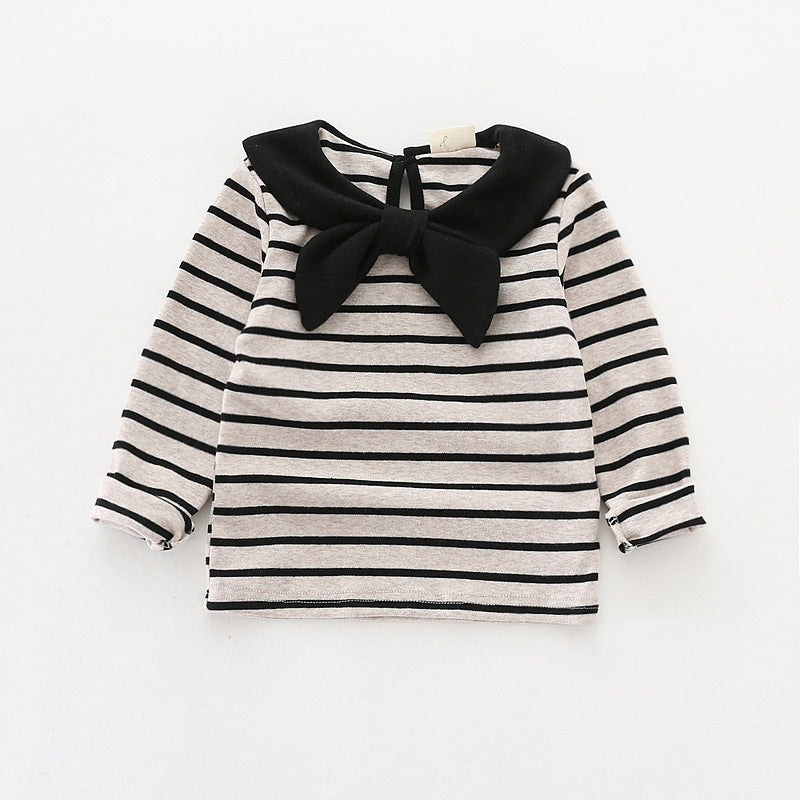 Striped Tops Girls Long Sleeve T-Shirt Cotton