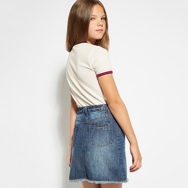 Girls t-shirt short-sleeved cotton