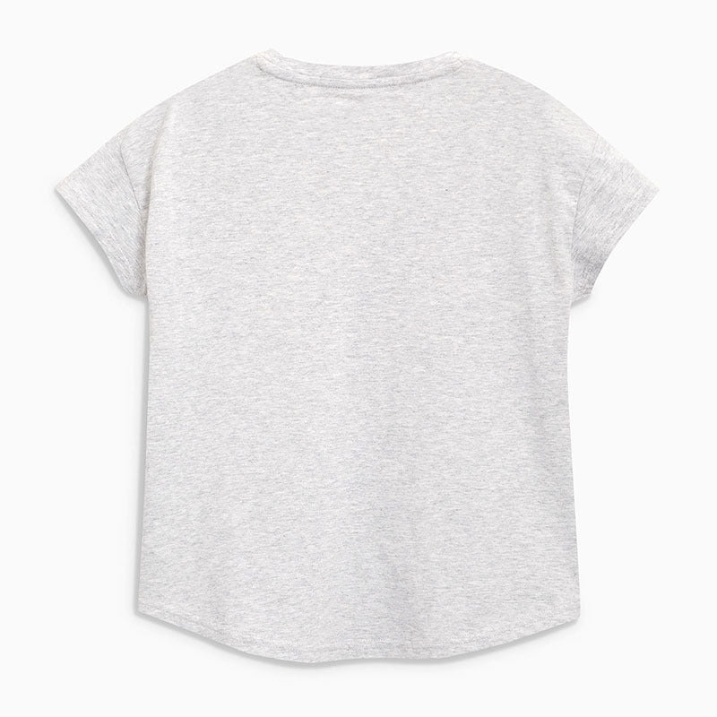 T-shirt short-sleeved round neck girl