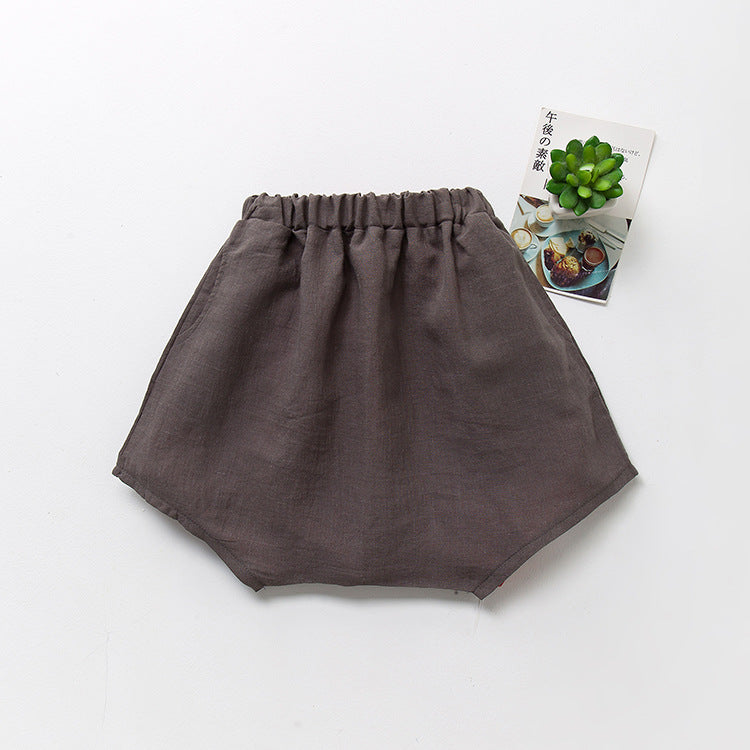 Children's shorts cotton and linen loose big - Kidsalia