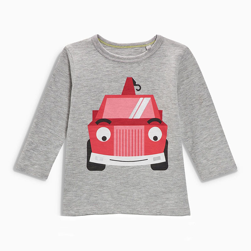 Children's T-Shirt Round Knit Collar Long Sleeve