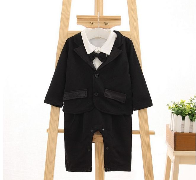 Children's clothing infant shape bow tie long-sleeved blouse