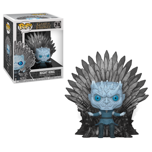 Game of Thrones Night King Sitting on Throne Deluxe Pop!