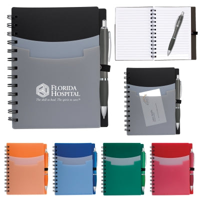 Tri-Pocket Notebook & Satin Pen