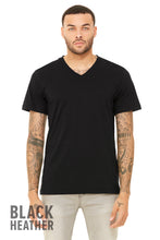 Load image into Gallery viewer, UNISEX TRIBLEND SHORT SLEEVE V-NECK TEE