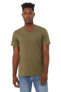 UNISEX TRIBLEND SHORT SLEEVE V-NECK TEE