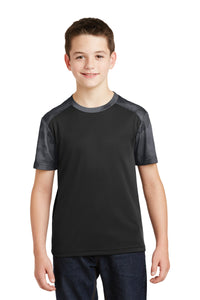 Sport-Tek Youth CamoHex Colorblock Tee