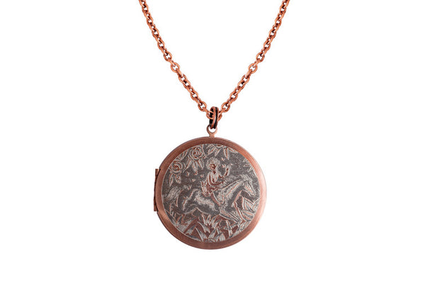 A girl and her horse... Copper Locket