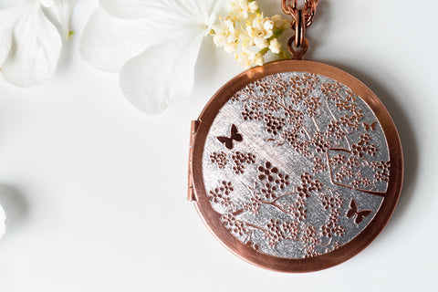 Cherry Blossom... Copper Locket