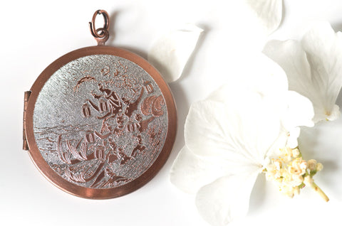 Mermaids... Copper Locket