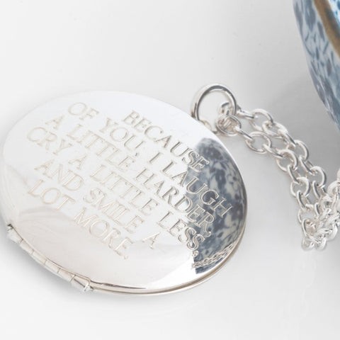Because of you... 38mm Silver Vintage Locket