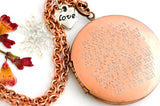 i carry your heart...  38mm Copper Vintage Locket