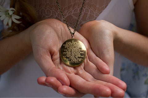 I'll always be with you... Brass Oval Locket