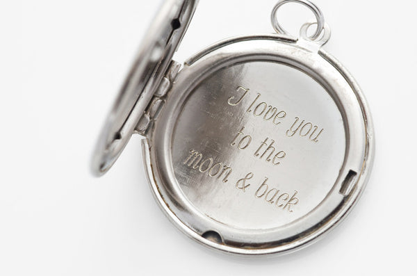 I love you to the moon & back... Silver Locket