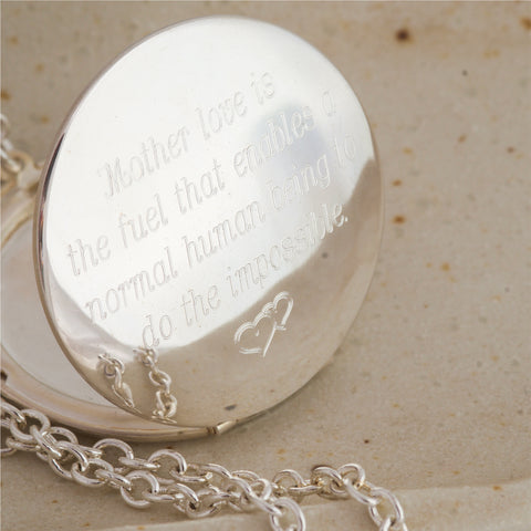 Mother love... 38mm Silver Vintage Locket