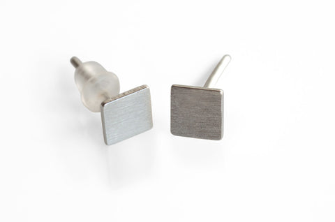 Square Earrings Sterling Silver