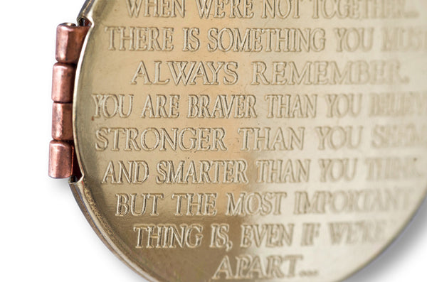 I'll always be with you... Brass Round Locket