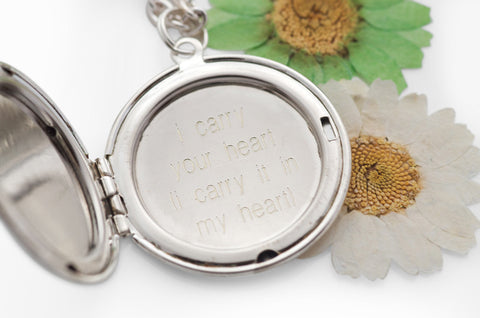 i carry your heart... Silver Locket