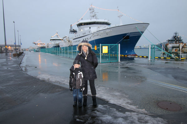 Me and Jake at the shipping port in Reykjavík Iceland