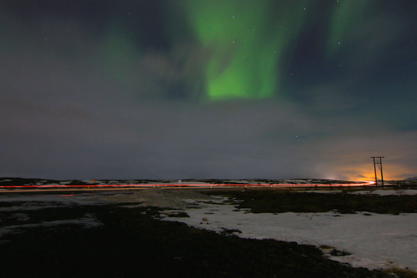 Catching the Northern Lights at Dusk Outside Reykjavík Iceland
