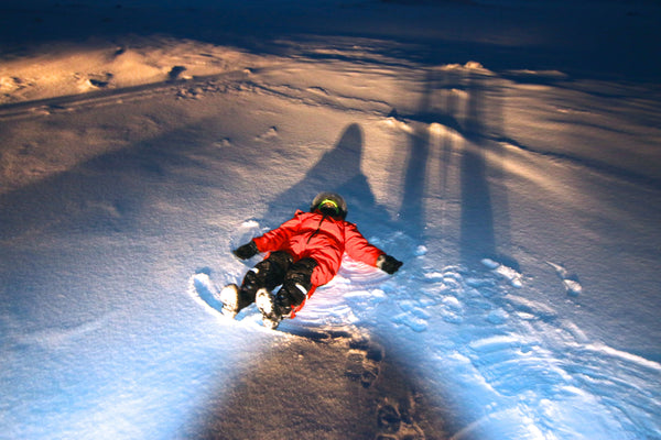 Snowmobiling In Iceland - Making snow angels
