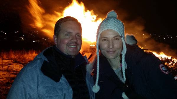 Mike and Me at the Bonfire in Iceland