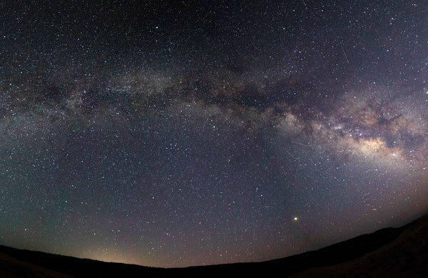 Panoramic Shot of the Milky Way at the Coral Pink Sand Dune State Park in Utah