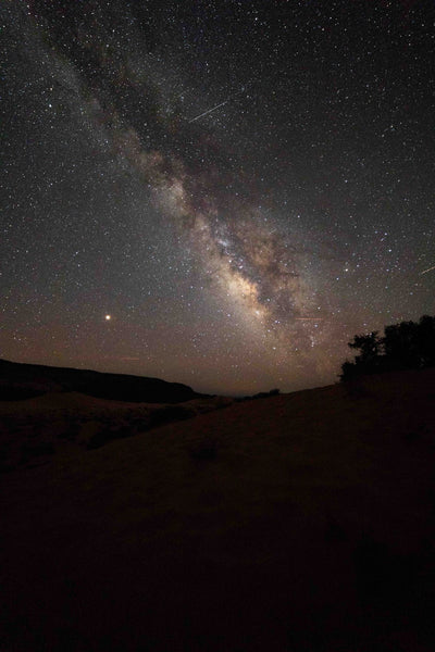 Milky Way Galaxy Overlooking the Coral Pink Sand Dune State Park in Utah