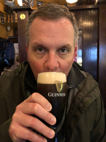 Mike Drinking His Guinness