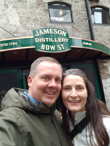 Bucket List Checked Lindsay and Mike at Jameson Distillery