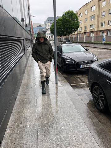 Mike Walking In Dublin Rain