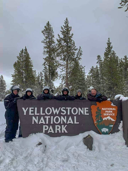 We Finished our Snowmobile Tour at Yellowstone National Park in the wintertime