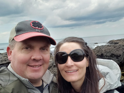 Mike and Me at Giant's Causeway