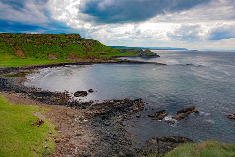 The view from the top of the highest peak Giants Causeway