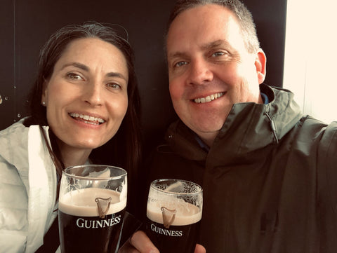 Enjoying Our Guinness Pint