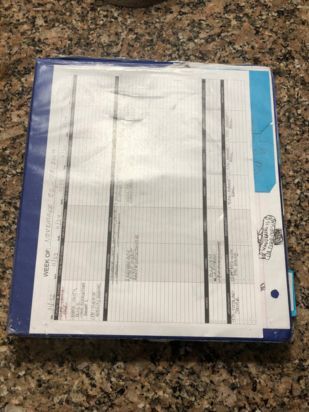 Slide Planner Pages into Binder Front and Back