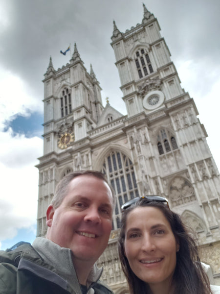 Westminster Abbey Photobombing Us in London