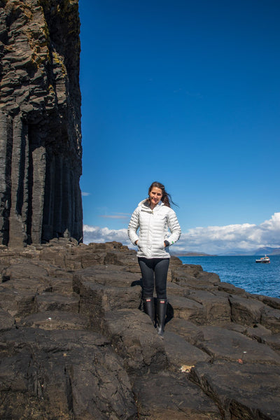 Me near Fingal's Cave on the Isle of Staffa