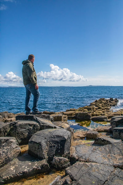 Mike overlooking the edge of the Isle of Staffa