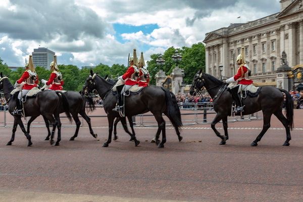 The Queen's Cavalry at Buckingham Palace