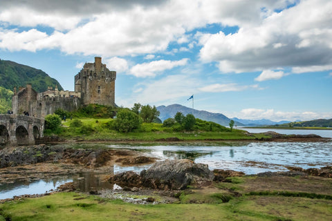 My View of Eileen Donan Castle from the other side of the parking lot