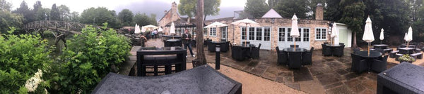 Panoramic View of The Trout Inn in Oxford England