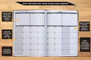 Ignited Life Planner – One Year Undated Goal Achievement System (Softcover)